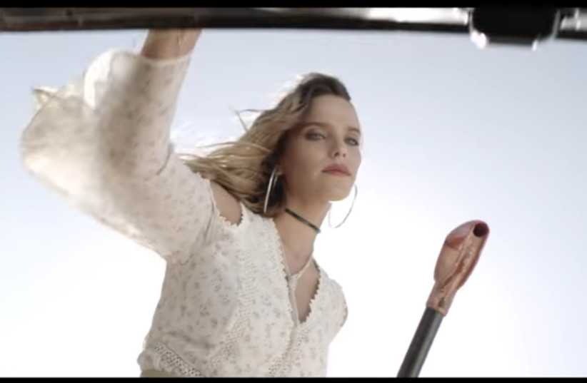 A screenshot from the Castro commercial 'Where is the dress from?' (photo credit: screenshot)