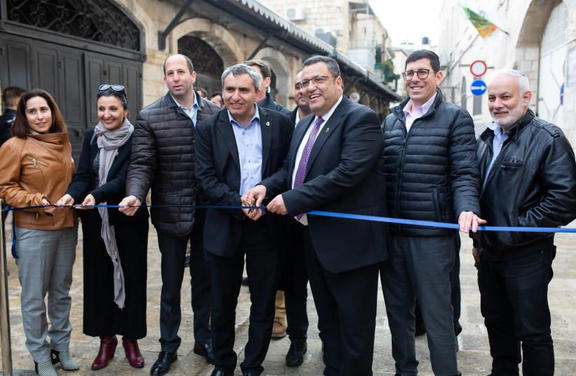 New Gate opening (photo credit: ALON BOSKILA)
