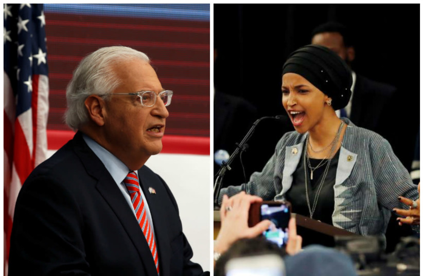 David Friedman (L) and Ilhan Omar (R) (photo credit: REUTERS)
