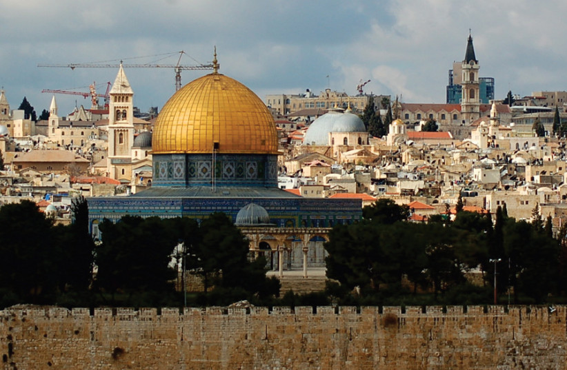 THE JERUSALEM skyline as viewed from the Mount of Olives. (photo credit: DAN/FLICKR)