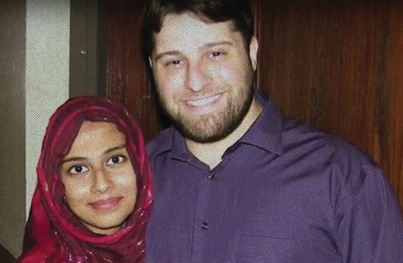 JOYA AND the transformed Yahya al-Bahrumi, a core founder of ISIS and first or second in rank among Americans who enlisted. (photo credit: Courtesy)