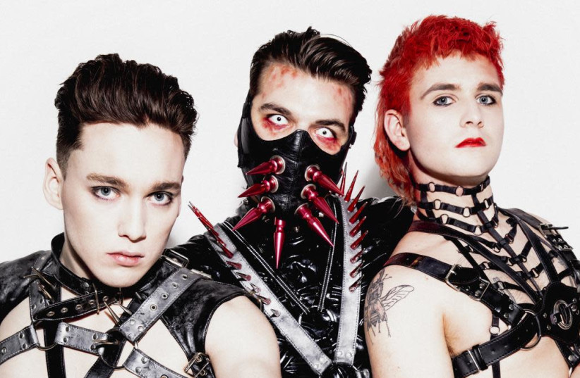 Hatari, the Icelandic band to perform in Tel-Aviv. Members are: Klemens Nikulásson Hannigan, Matthías Tryggvi Haraldsson and Einar Hrafn Stefánsson.   (photo credit: Courtesy)