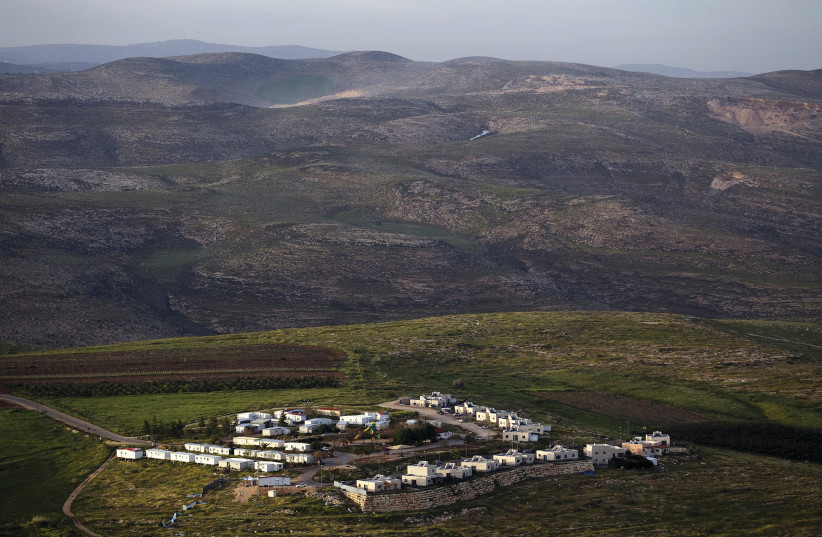 THE JEWISH community of Mitzpe Kramim east of the West Bank city of Ramallah in 2015 (photo credit: REUTERS)