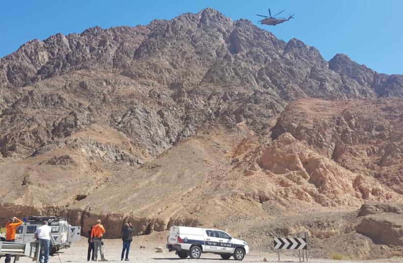 Mount Solomon where the body of an American citizen was found (photo credit: POLICE SPOKESPERSON'S UNIT)