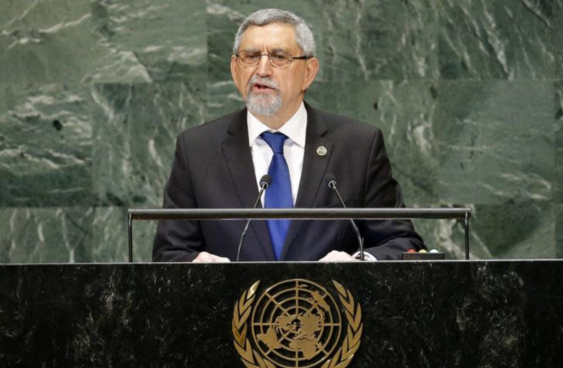 Cape Verde's President Jorge Carlos de Almeida Fonseca addresses the 73rd session of the United Nations General Assembly at U.N. headquarters in New York (photo credit: REUTERS/EDUARDO MUNOZ)