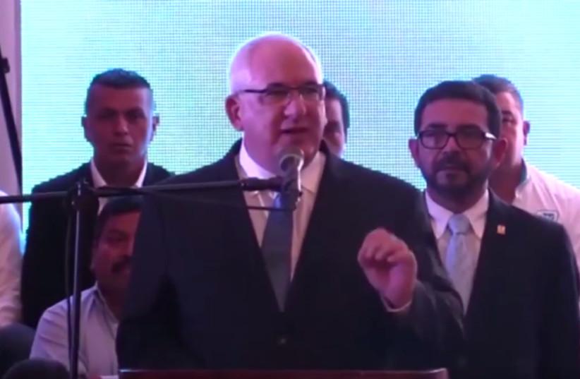 Guatemalan presidential candidate Isaac Farchi (Screenshot/ILTV) (photo credit: SCREENSHOT/ILTV)