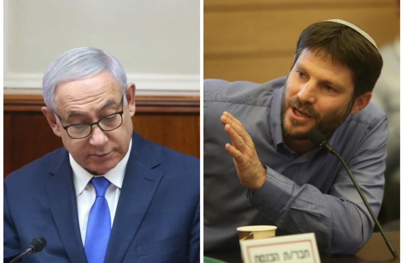 Prime Minister Benjamin Netanyahu and MK Bezalel Smotrich (photo credit: MARC ISRAEL SELLEM/THE JERUSALEM POST)