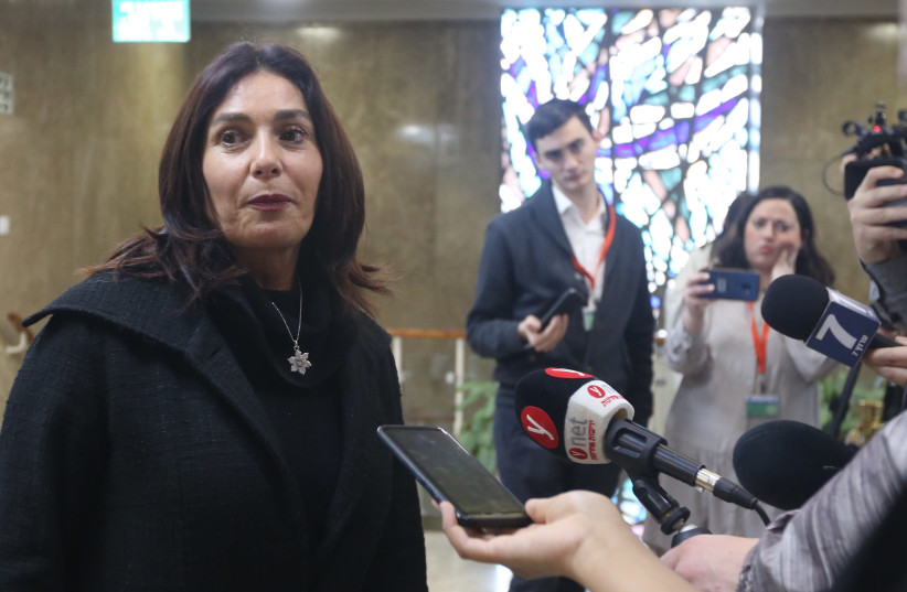 Miri Regev arrives at a weekly cabinet meeting, March 3rd, 2019 (photo credit: MARC ISRAEL SELLEM/THE JERUSALEM POST)
