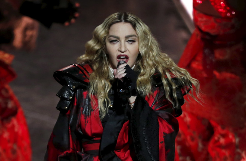 Madonna performs during her Rebel Heart Tour concert at Studio City in Macau, China February 20, 2016 (photo credit: BOBBY YIP/ REUTERS)