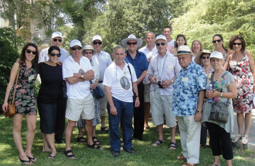 Descendants of the Ochberg orphans at the reunion in 2011 at Kibbutz Dalia (photo credit: DAVID E. KAPLAN)