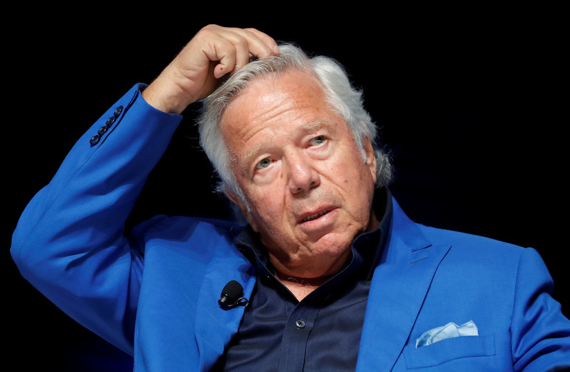 New England Patriots owner Robert Kraft attends a conference at the Cannes Lions Festival in Cannes, France, June 23, 2017 (photo credit: ERIC GAILLARD/REUTERS)