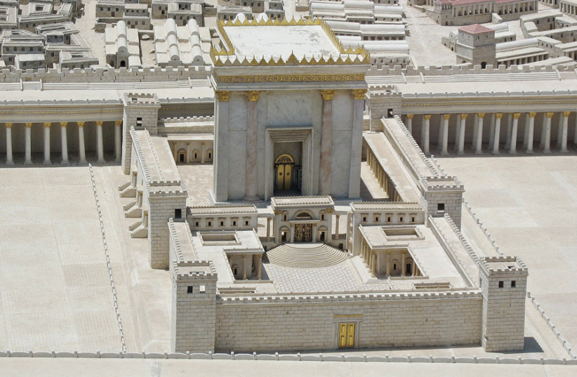 THE SECOND Temple, model in the Israel Museum, 2008. (photo credit: Wikimedia Commons)