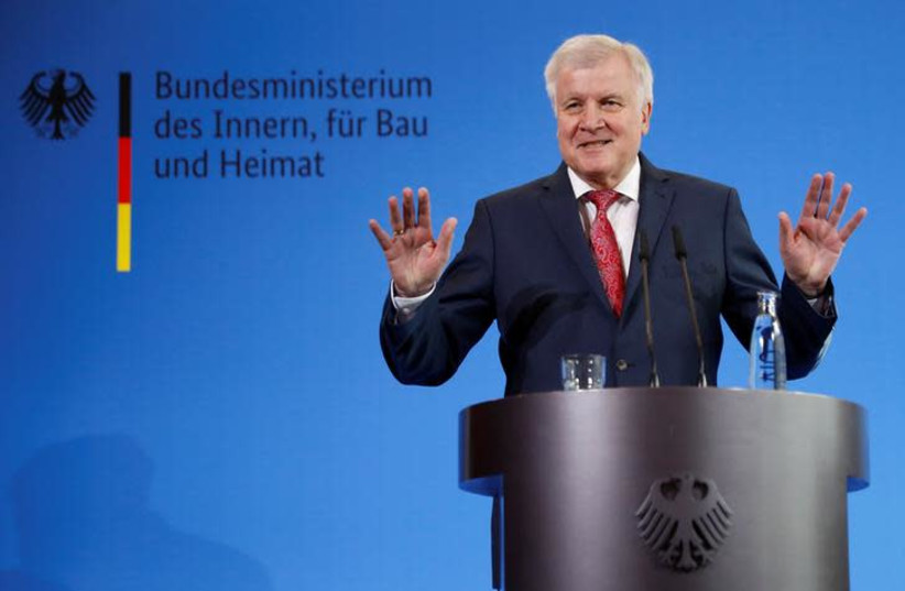 German Interior Minister Horst Seehofer (photo credit: REUTERS/FABRIZIO BENSCH)