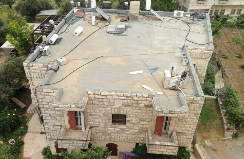 Aerial footage of the contested Hebron home in Tel Rumeida (photo credit: PEACE NOW)