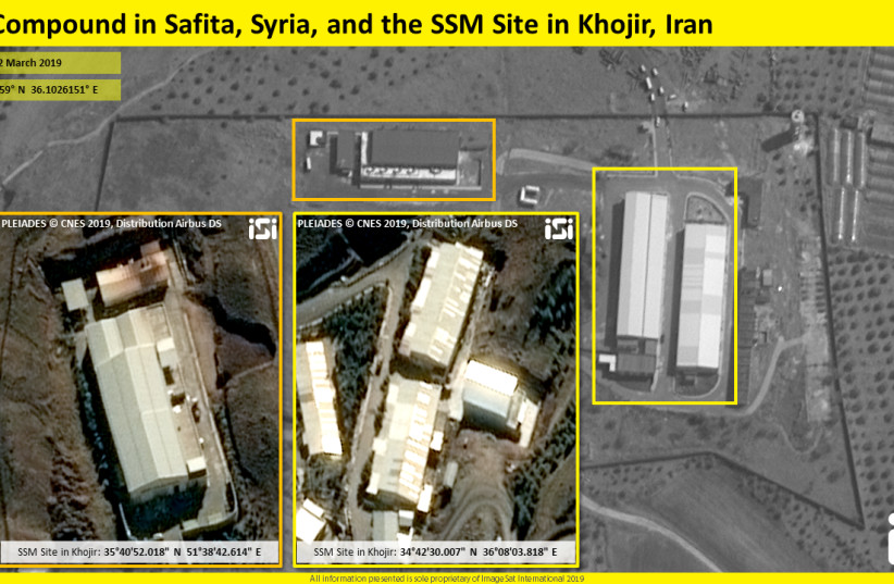 Satellite images show another Iranian missile site in Syria (photo credit: IMAGESAT INTERNATIONAL (ISI))