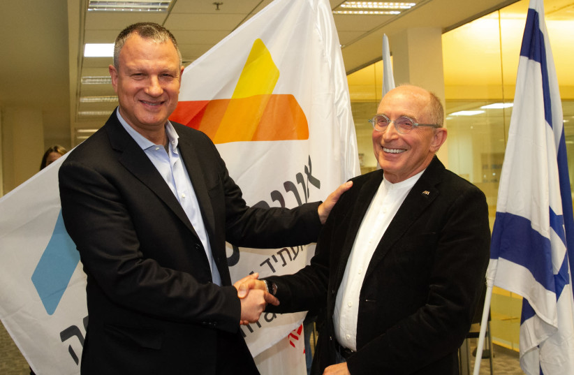 University of Haifa President Prof. Ron Robin and Dr. Erel Margalit, Chairman and Founder of the ii2020 sign collaboration to transform Haifa into digital health powerhouse. (photo credit: Courtesy)