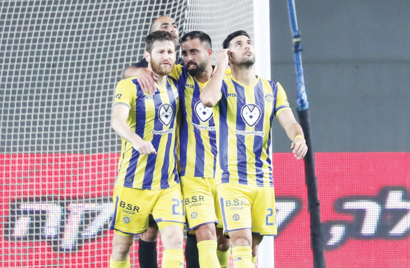 MACCABI TEL AVIV is the overwhelming favorite to capture the Premier League championship as the Championship Playoffs kick off this weekend. (photo credit: DANNY MARON)