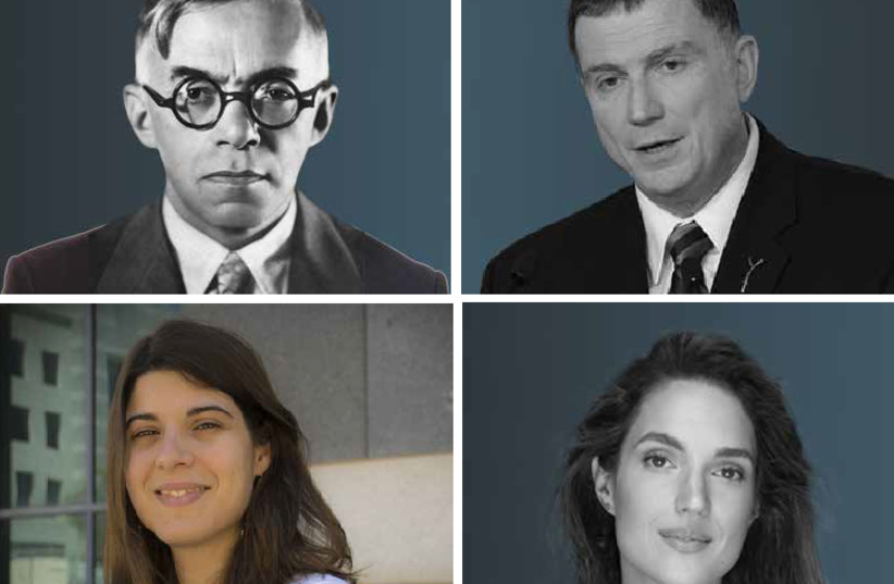 PROMINENT RUSSIAN Jews past and present who have helped shape Israel: Ze'ev Jabotinsky, founder of Revisionist Zionism; Knesset speaker Yuli Edelstein; Kira Radinsky, chief scientist and director of data science at eBay Israel; and singer-songrwriter and actress Marina Maximilian Blumin (photo credit: WIKIMEDIA COMMONS; AMOS BEN-GERSHOM/GPO; WIKIMEDIA COMMONS; COURTESY))