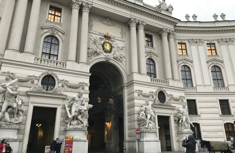 THE INNERER BURGHOF is the largest inner castle courtyard at the Hofburg in Vienna (photo credit: NATASHA VALK)