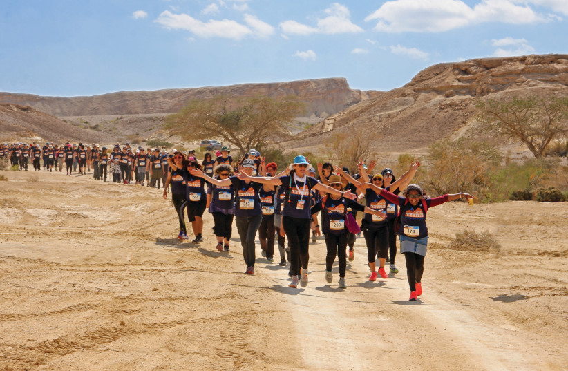 A GROUP of women partake in Yad La'isha's annual 'Women Moving Mountains' hike in order to raise awareness to the plight of 'agunot.' (photo credit: IRIT AMIT)