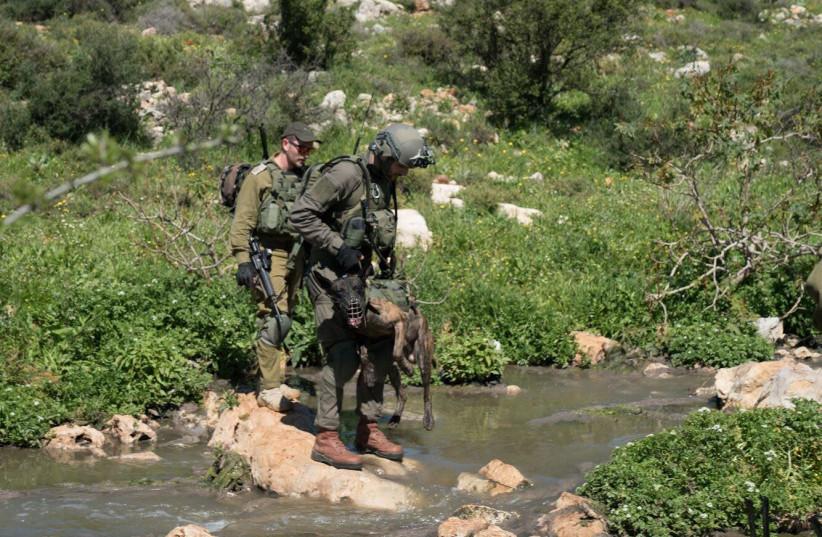 Manhunt for Ariel terrorist (IDF SPOKESPERSON'S OFFICE) (photo credit: IDF SPOKESPERSON'S OFFICE)