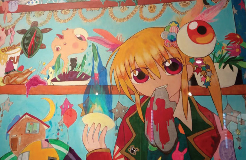 'GIRLS FESTIVAL for Defeated Soldiers' (2007) by Mahomi Kunikata (photo credit: HAGAY HACOHEN)