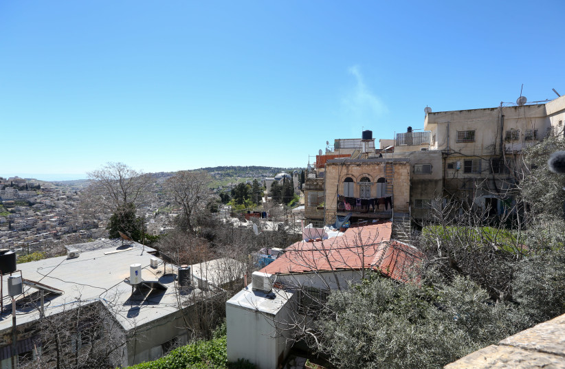 Possible location for cable car station in Silwan (photo credit: MARC ISRAEL SELLEM/THE JERUSALEM POST)