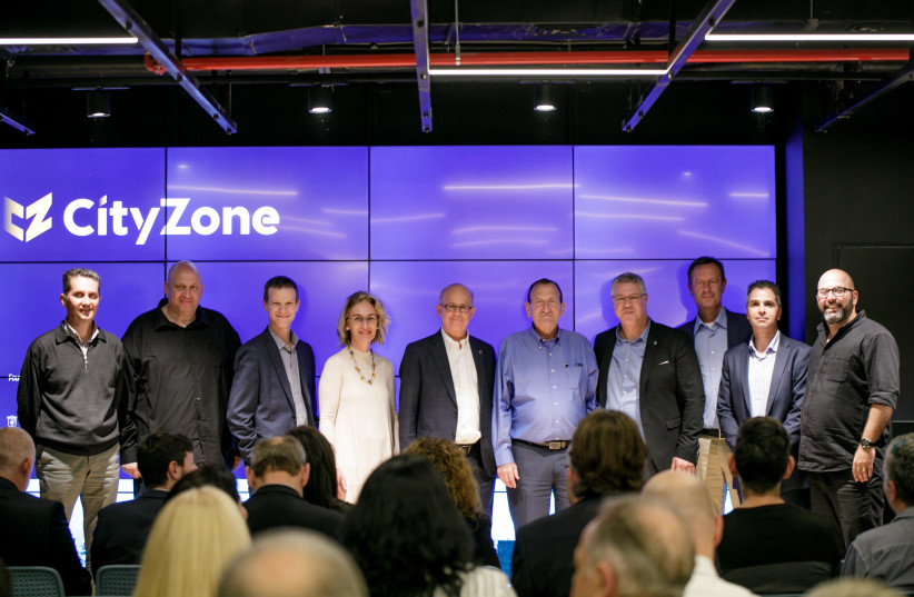 The inauguration of Tel Aviv's CityZone innovation laboratory and field experiment center (photo credit: OMER HACOHEN)