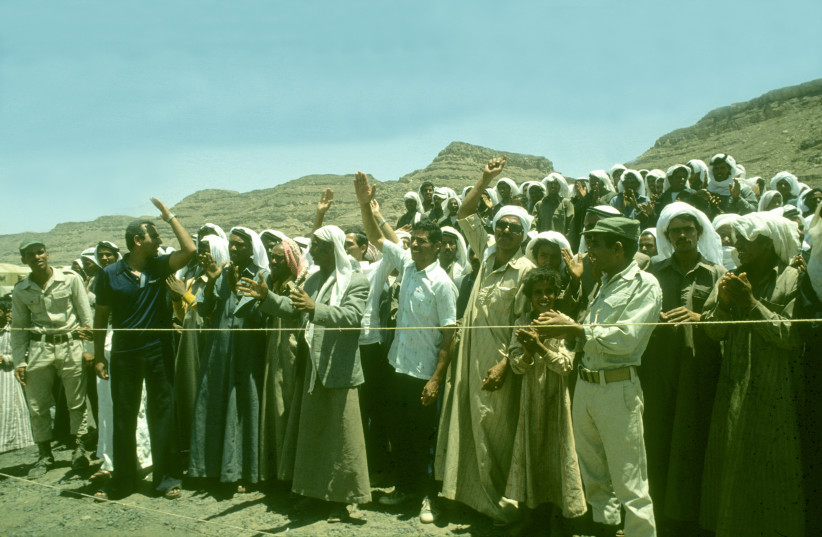 The El Arish ceremony (photo credit: NATIONAL LIBRARY OF ISRAEL)