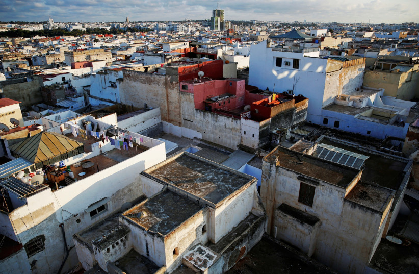 Rooftops of Rabat's Medina are seen from the top of a tall building (photo credit: DAMIR SAGOLJ/ REUTERS)