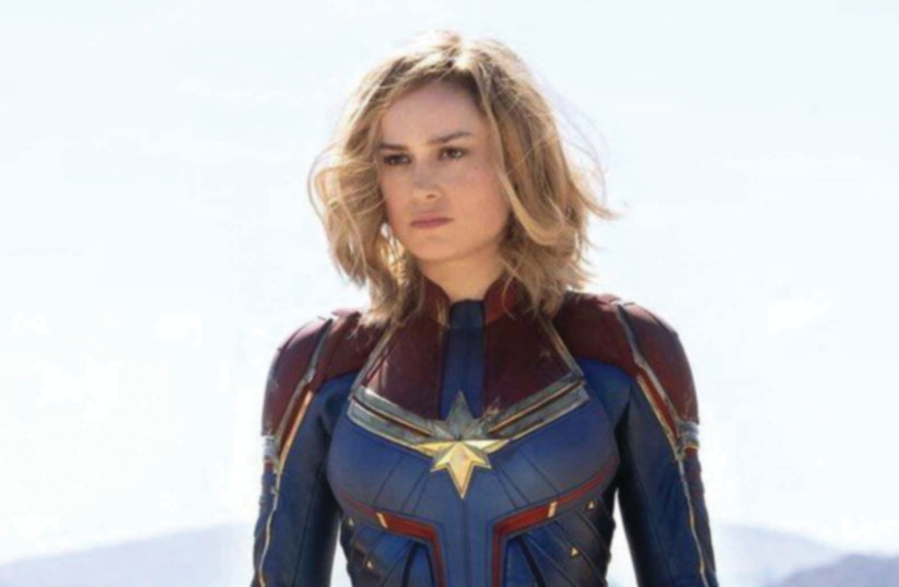 "Brie Larson in ""Captain Marvel."" (photo credit: Courtesy)"