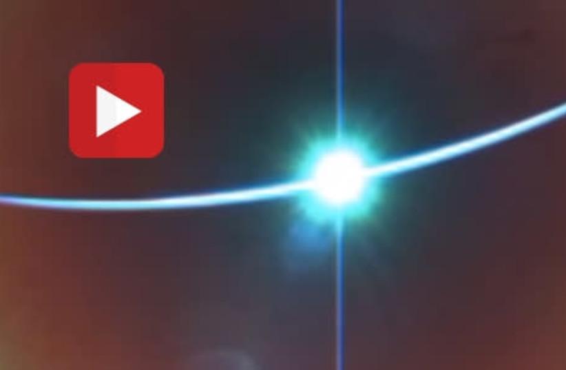 Sunrise photo from Beresheet spacecraft (photo credit: screenshot)