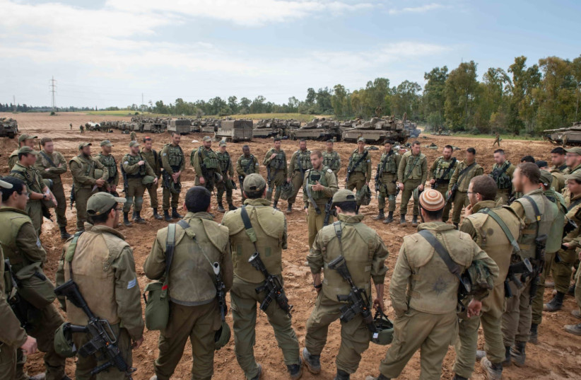 IDF troops in action near the Gaza Strip (photo credit: IDF)