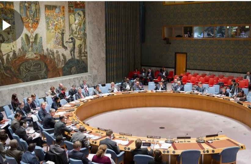 UN Security Council meets to discuss Israel's control of the Golan Heights (photo credit: screenshot)