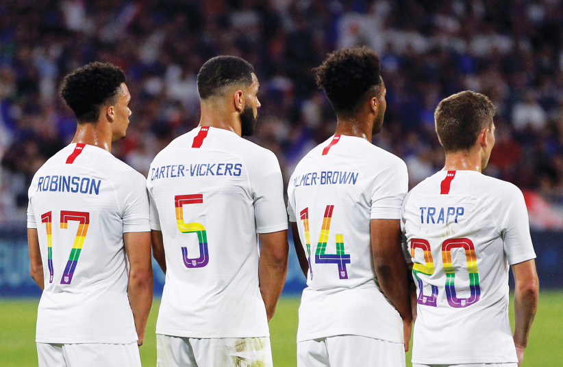 SOCCER IS one of the sports taking place this weekend at the Tel Aviv Games, the largest LGBTQ sporting event in the Middle East (photo credit: REUTERS)