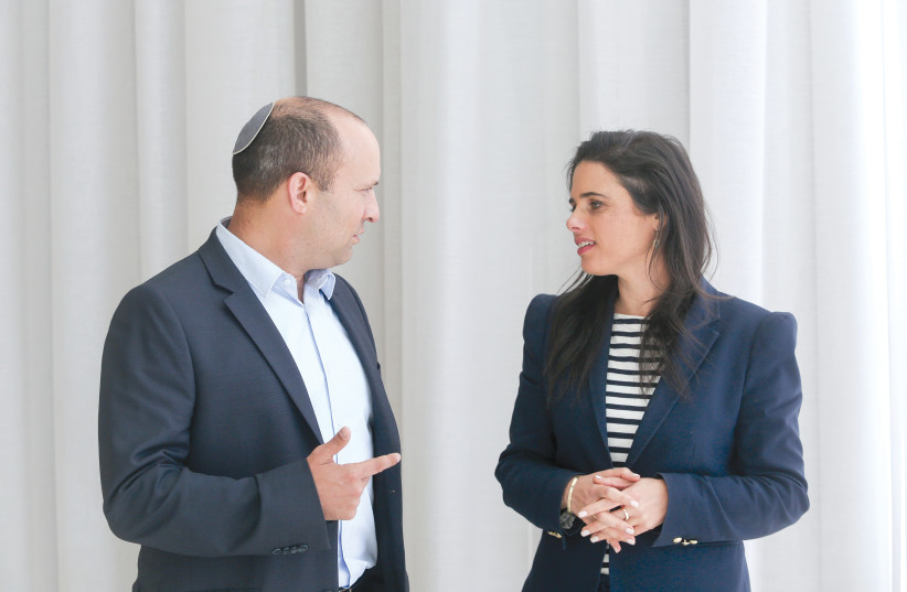 NAFTALI BENNETT and Ayelet Shaked: What needs to be done is to shake up the spirit of the security establishment (photo credit: MARC ISRAEL SELLEM/THE JERUSALEM POST)