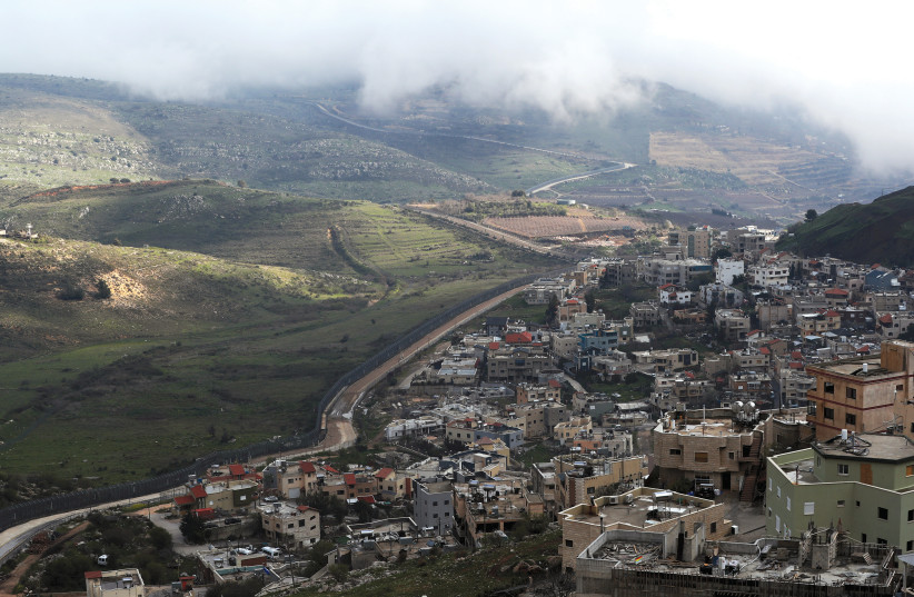 A GENERAL VIEW of Majdal Shams in the Golan Heights near the border with Syria (photo credit: REUTERS/AMMAR AWAD)