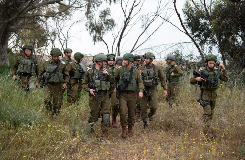 IDF soldiers prepare for expected escalation along the Gaza border, March 29, 2019. (photo credit: IDF SPOKESPERSON'S UNIT)