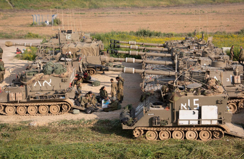 The IDF prepares for expected escalations throughout the weekend along the Gaza border, 2019. (photo credit: IDF SPOKESPERSON'S UNIT)