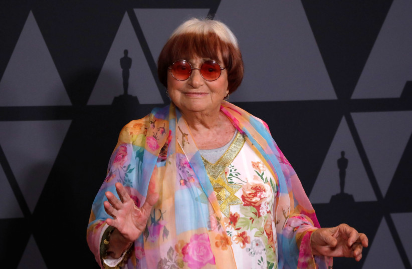 Director Agnes Varda at the 9th Governors Awards in Los Angeles, 11/11/2017.  (photo credit: MARIO ANZUONI/REUTERS)