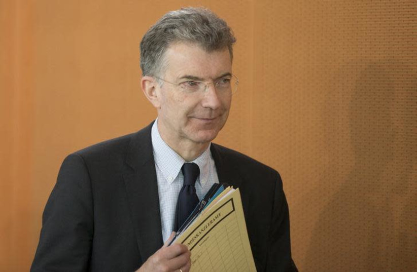 Germany's Ambassador to the UN, Christoph Heusgen (photo credit: REUTERS/AXEL SCHMIDT)