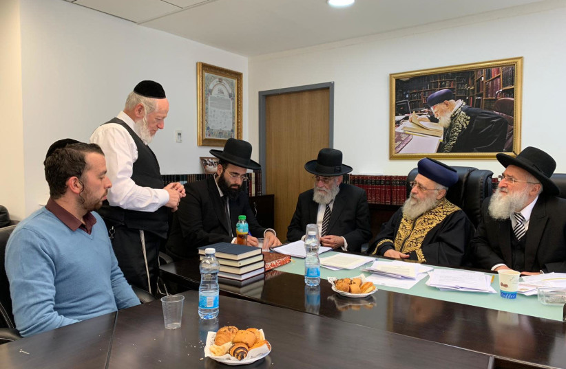 Special Rabbinical Court convenes on Sunday (photo credit: CHIEF RABBINATE)