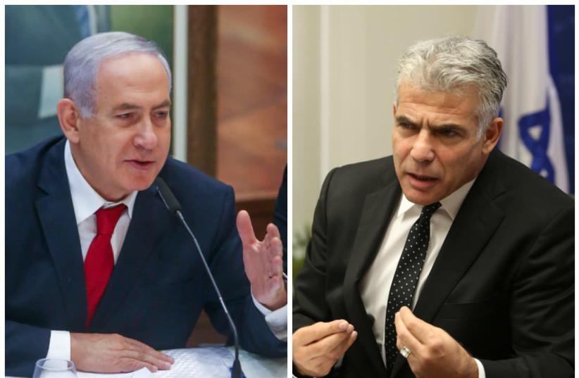 Prime Minister Benjamin Netanyahu and Yair Lapid (photo credit: MARC ISRAEL SELLEM/THE JERUSALEM POST)