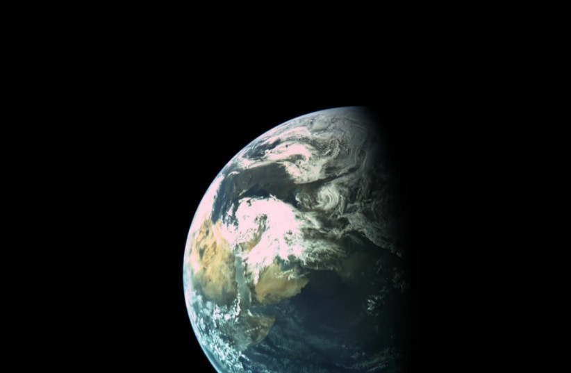 EARTH, from Beresheet's vantage point (photo credit: SPACEIL)