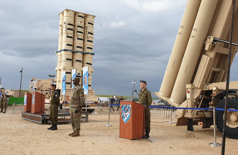 ael, US complete first ever THAAD missile defense drills (photo credit: IDF SPOKESPERSON'S UNIT)