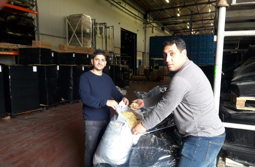 Police seize hundreds of kilograms of smuggled tobacco  (photo credit: TAX AUTHORITY)