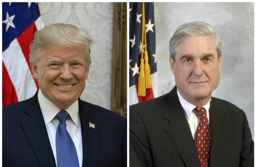 Donald Trump (L) and Robert Mueller (R) (photo credit: Wikimedia Commons)