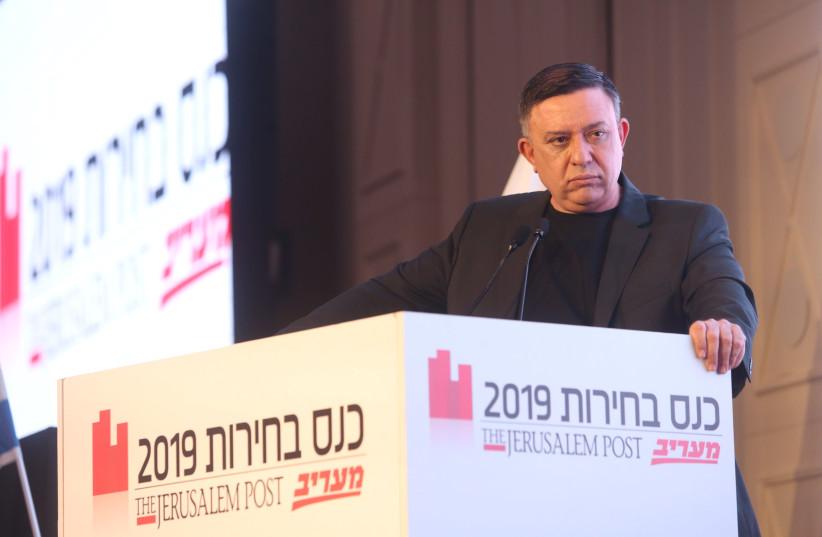 Avi Gabbay at The Jerusalem Post elections conference, April 3rd, 2019 (photo credit: MARC ISRAEL SELLEM/THE JERUSALEM POST)