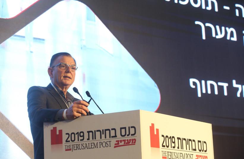 Prof. Zion Hagai speaks at the Jerusalem Post Elections Conference on April 3, 2019 (photo credit: MARC ISRAEL SELLEM/THE JERUSALEM POST)