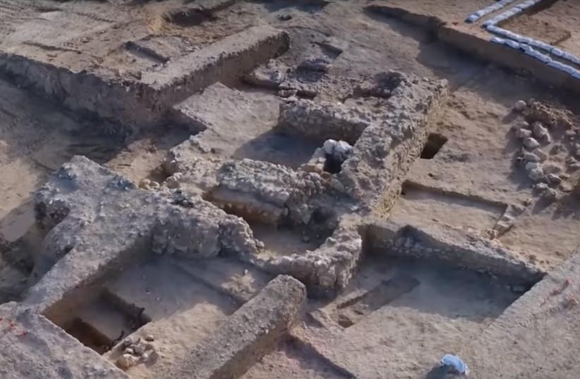 Second Temple era excavation site in Beersheba (photo credit: SCREENSHOT VIA EMIL ALAGEM/ISRAEL ANTIQUITIES AUTHORITY)